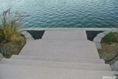 steps to lake