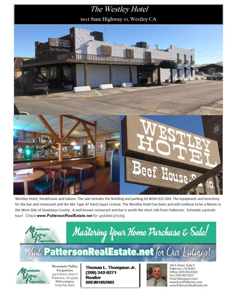 Westley Hotel Flyer
