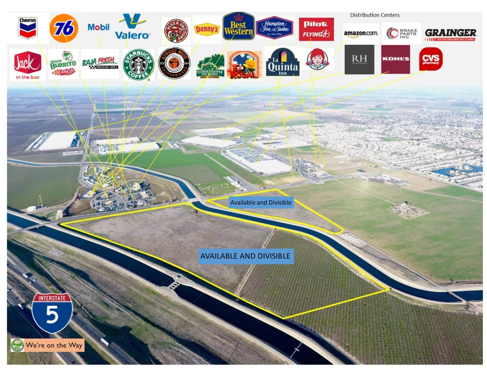 Sperry Commercial Park – Commercial Lots by Interstate 5 Available and Divisible