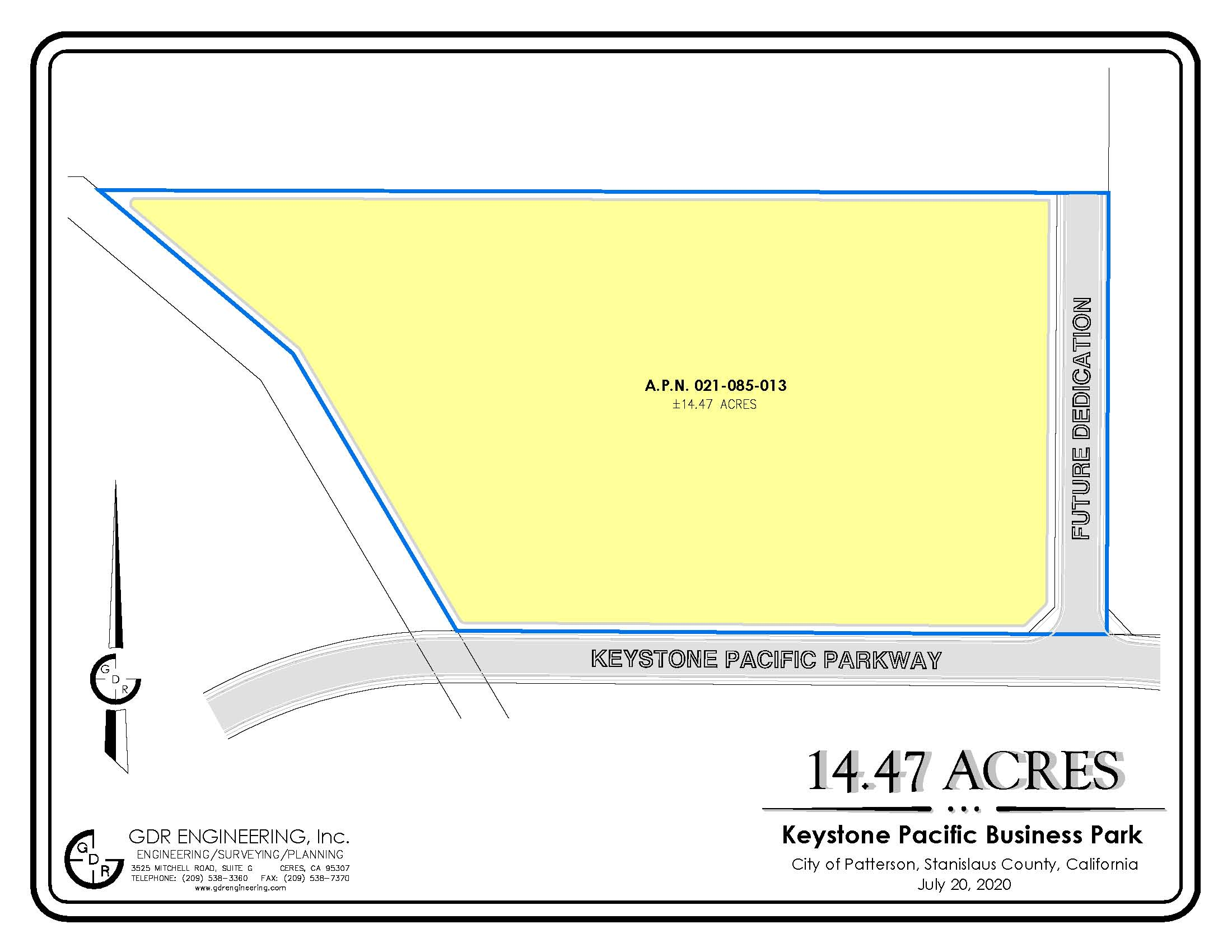 KEYSTONE PACIFIC BUSINESS PARK 14.47 Acre Site Parcel 021-085-013