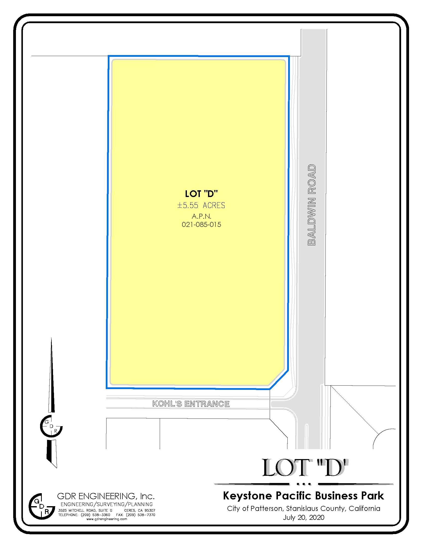 Keystone Pacific Business Park 5.55 Acre Site Parcel 021-085-015 (Pending)